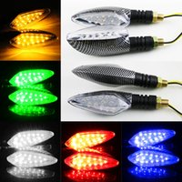 Wholesale Vehicle Lighting Accessories - Motorcycle LED turn signals off-road vehicles 12V street running direction lights turn lights turn instructions modification accessories