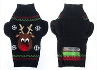 Wholesale Black Dog Nose - 2017 new Christmas pet sweater red nose deer dog clothes winter clothing teddy VIP autumn and winter clothes
