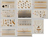 Wholesale Tatoo Sale - 2015 New Freeshipping Flash Tatoo Hot Sale Gold Silver Flash Stickers Metallic Tattoo Temporary Body Jewelry Waterproof