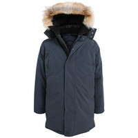 Wholesale Long Wolf Hat - CMFR winter Man long down Parkas with real wolf fur collar Korean yards thick down jacket