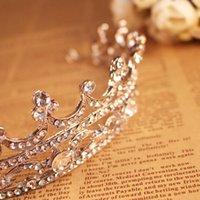 Wholesale Diamond Tiara Silver - 2016 hotsale Bride Selling diamond tiara crown headdress ornaments birthday Gift