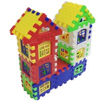 Wholesale Education Toy House - Children 's Puzzle Enlightenment Block Plastic Pin Block Building House Group Assembled Kindergarten Early Education Toys