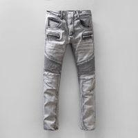 Wholesale Stylish Stretch Pants - NWT BP Men's Stylish Fashion Stretch Slim Washed Biker Grey Jeans Size 28-42 (#950)