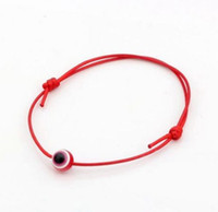 çince bilezik knot toptan satış-Ücretsiz Gemi 100 adet Hamsa Dize Nazar Şanslı Kırmızı Çin düğüm Ayarlanabilir Bilezik