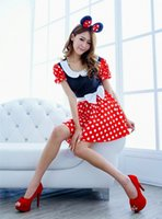 Wholesale Sexy Car Clothes - 2016 new sexy female sexy underwear uniforms cute cartoon clothes Mickey suit car show performance animation performance