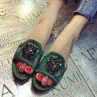 Wholesale Black Wedges Booties - Color Rhinestone Wedge Platform Sandals Women Summer Shoes Bohemia Style Fashion Flip Flops Sandals Shoes Woman