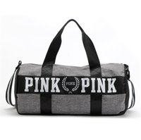 sport duffel bags - 2017 Canvas secret Storage Bag organizer Large Pink Men Women Travel Bag Waterproof Victoria Casual Beach Exercise Luggage Bags