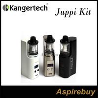 Wholesale Chrome Mod Kit - Kanger Juppi Starter Kit Juppi Kit 3ML Juppi Tank with 75W Juppi TC Box Mod supports Ni Ti SS316 and Ni-Chrome Wire in TC Mode Juppi Kit New