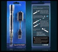 Wholesale Ego U Mini - electric torch electronic cigarette mini ce4 ego-u ego u e cigarette LED vape pen vaporizer blister e cigarette kit