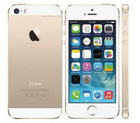 Wholesale Iphone 5s Factory Unlocked - Sealed box Original Factory Unlocked apple iphone 5s phone 16GB 32GB 64GB ROM IOS GPS GPRS LTE Used 1 year warranty