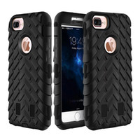 Wholesale Armor Tire - Armor silicone TPU phone case for iPhone 7 6s 6 plus tire rugged three Layer Defender Heavy Duty Hybrid Phone Case Cover 2016