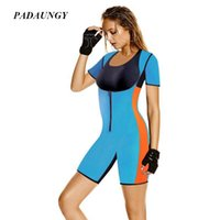 Wholesale spandex full bodysuit for women - Wholesale- PADAUNGY Neoprene Bodysuit Full Body Shaper Slimming Belly Underwear Butt Lifter Tummy Control Panties Hot Shapers For Women