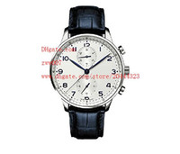 Wholesale brands japanese movement watches - Factory Supplier Luxury AAA Brand Wristwatches 46 Japanese Quartz Movement Chronograph White Dial Mens Watches Sport Stopwatch