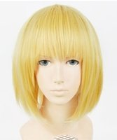 Wholesale Attack Titan Armin Wig - 100% free shipping New High Quality Fashion Picture full lace wigs>>Japan Anime Attack on Titan Armin Arlart Short Dark Blonde Cosplay Wig #