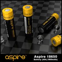 Wholesale Hybrid Ecig - Fast shipping Aspire 18650 Battery High Drain ICR18650 Battery Cells Powerful Aspire 18650 1800mah Cell Hybrid IMR Ecig Batteries