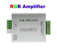 iluminación del amplificador al por mayor-Amplificador RGB para LED Light Strip 12A 12V Singal Power amp Repeater 144W para 5050 3528 Tiras flexibles Cuerda CE ROSH