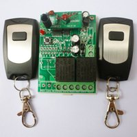ingrosso interruttore remoto 433mhz-2PCS Wireless Remote Relay RF Control Switch System 2 Ricevitore CH 433MHZ DC24V