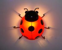 Wholesale Ladybug Light Lamp - Children's Bedroom Wall LED bedside lamps. Beetle children wall lighting. Ladybug bedside lamp night light insect Story
