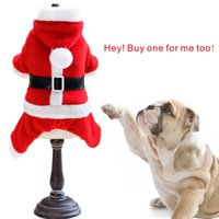Wholesale Dress For Dogs Red - Dog winter clothing Christmas Santa Claus clothing With ornaments Full size Very cute Dress up for your pet.