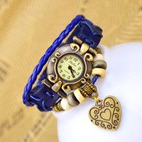 Wholesale Leather Bracelet Manufacturers - DHL free shipping Luxury Watches manufacturers selling fashion watches Antique watch wholesale bracelet table Big hearts lady watch