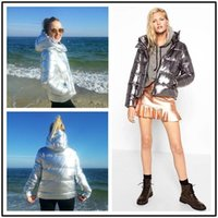 Wholesale White Feathers For Sale - Fashion Loose Style Winter Luxury Jacket For Women 2018 Feather Cotton Hooded Coats European Hot Sale Women's Parkas FS3062
