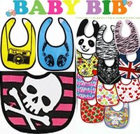 Baby Boy's Girl impermeabile bibite di alimentazione bambino infantile super eroe Batman Superman Spider-Man cranio Leopard Striped Bambini Animal Burp Cloths