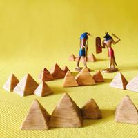 statues à la maison achat en gros de-10pcs pyramide célèbre architecture statue / fée jardin gnome / mousse terrarium décor à la maison / artisanat / bonsaï / miniatures / figurine