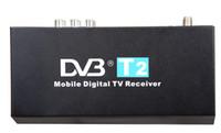 android tv box gps al por mayor-DVB-T2 Caja de TV digital móvil Receptor de TV digital para el coche Android DVD GPS Reproductor de radio Estéreo del coche