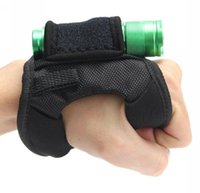 Wholesale Magic Hand Glove - Durable Hand Free Light Holder Glove portable Diving Dive Underwater Torch holster Flashlight gloves with magic sticker buckle