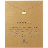 Wholesale Whale Charm Silver - Dogeared Choker Necklaces With Card Gold Silver Whale Pendant Necklace For Fashion Women Jewelry FAMILY Gift