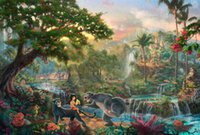 Wholesale Books Oils - The Jungle Book HD Art Print Original Oil Painting on Canvas high quality Home Wall Decor,Multi size,Free Shipping,Framed