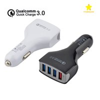 Wholesale Car Charger Retail Packaged - QC3.0 Car Charger 4USB Quick Charger 4 Ports Car Charger Adapter for iPhone 7 Samsung with Retail Package
