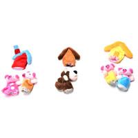 cuento de marionetas al por mayor-8Pcs Three Little Pigs Finger Puppet Children Educativo Fairy Tale Toy Plush Puppet Wholesale