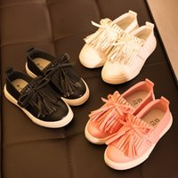 Wholesale Dress Shoes For Children - Kids 2016 girls Dress shoes princess tassel Flats children shoes girls cute Dress shoes for toddler girls trainers