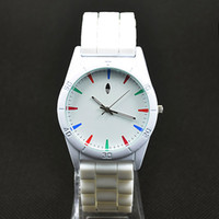 Wholesale Ad Pin - Casual AD Clover Women Men's Unisex 3 Leaves leaf style dial Silicone Strap Analog Quartz Wrist watch A02