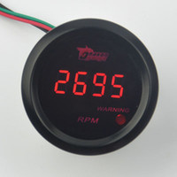 "Wholesale Car 52mm - New Universal Car 2"" 52mm Red LED Digital Tacho Tachometer Gauge RPM Free shipping"