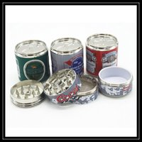 Wholesale Grinding Machine Parts - 4 Parts Tobacco Grinder Coke Pop Cans Herb Pollen Spice Crusher 50mm Diametre Hand Hold Smoking Grinding Muller Machine Tool 4 Pieces