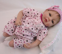 Wholesale Silicone Realistic Love Doll - Realistic 22 Inch Reborn Dolls Soft Silicone Collectible Newborn Baby Alive Doll Handmade Lifelike Baby Toys Love Baby Doll