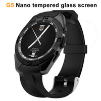 Wholesale Stainless Watches Camera - G5 smartwatch MTK2502 for Apple android second generation waterproof stainless steel Mobile phone smart watches Bluetooth music touch Z60 A1