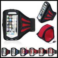 Para Iphone 6 6S Sports impermeável executando Caso Armband executando saco Workout Armband Titular pounch para Samsung Galaxy S6 S7 CellPhone Arm Bag