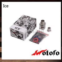 Wholesale velocity rda online - Wotofo Ice RDA Ice Cube Atomizer With Dual Slotted Adjustable Top Airflow Rebuidable Dripping Tank with Velocity Deck Original