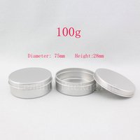 Wholesale Tea Storage Jars - 100g aluminum round empty canning jar   tin  containers ,aluminum storage container ,candle tin,tea container, 50pc lot