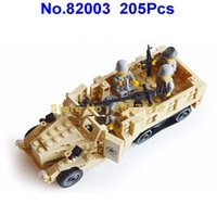 Wholesale Century Military - Kazi 82003 205pcs Pop Century Military Usa M2 Half Track Troop Building Block Brick Toy