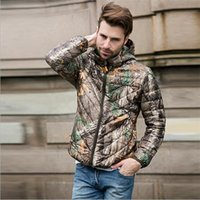 Wholesale Down Jacket Leopard - Fall-2016NEW Autumn Winter Duck Down Jacket men short hooded bionic camouflage coat Ultra Light Thin Sports mens Outerwear coat