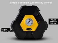 мощные воздушные компрессоры оптовых-Сверхмощный портативный воздушный компрессор с 3 м длинным удлинителем с прикуривателем Carzkool ZK - 3603 DC 12V