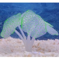 ingrosso corallo di decorazione del serbatoio di pesci dell'acquario-Bellezza Silicone artificiale Fish Tank Aquarium Coral Plant Ornament Decoration # R21