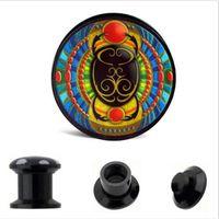 Wholesale Earrings For Pierced Ears - uv acrylic colorful logo for new design very fashion ear plug tunnels body jewelry earring cuff piercing plugs