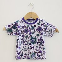 Wholesale Cotton Flower Shirt - Kids Clothes 2016 New Flower Kids T-shirt For Boys Girls Tops Tee Baby T shirt Children Clothing Cotton Infant Toddlers Summer 5pcs lot