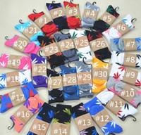 Wholesale Christmas Socks For Men - 2016 NEW christmas plantlife socks for men women cotton socks skateboard hiphop socks maple leaf sport socks wholesale Free Ship