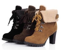 Wholesale scrubs women medium resale online - The new Martin boots high heel scrub short boots large size women shoes